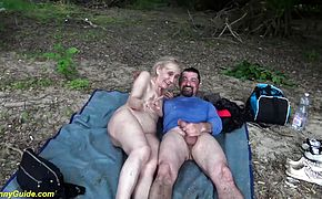 rough outdoor sex with ugly stepmom