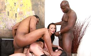 Interracial DP Gangbang for Belle Claire