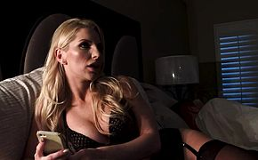 Naughty America  Ashley Fires has her boy toy creampie her