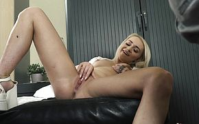Sexy young nurse gives handjob and blowjob to grandpa