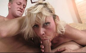 years old blonde woman rides his big cock