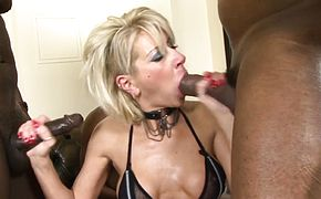 Cathy Inez Gets DP Gangbanged by BBCs