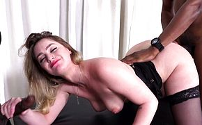 Kenzie Madison Orders Two Black Bulls To Service Her Needs