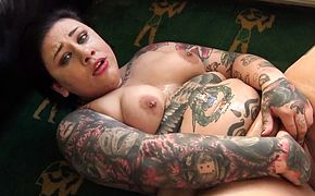 Tattooed big submissive gets fucked roughly