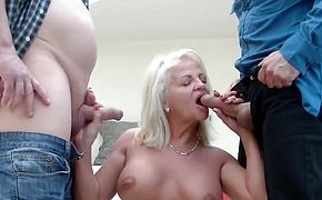 first rough double penetration for mom
