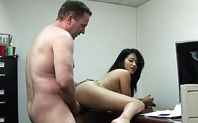 Tight teen Andrea Kelly gets fucked by her boss