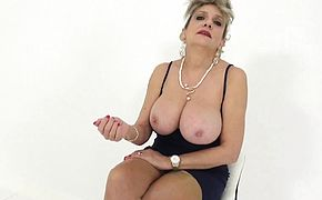JOI fun with beautiful busty mature Lady Sonia