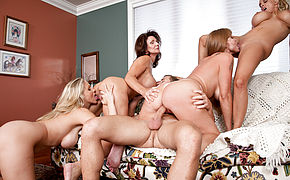 Darla Crane and Deauxma and Holly Halston and Julia Ann and Michael Vegas in My Friends Hot Mom