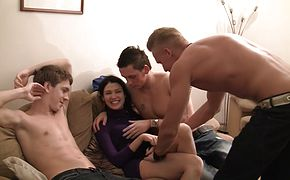 Elizabeth and Kamila and Marya and Sabina Gruda and Tanata in sexy chick gets fucked in a real college sex video