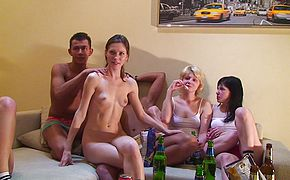Aspen and Berta and Milana and Pandora in orgy movie with many hot babes and endowed guys