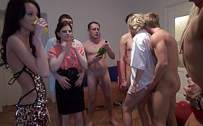 Charlotte Reed and Angel Piaff and Corrine and Eveline and Ilsa in innocentlooking xxx college girls get fucked hard