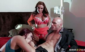 Diamond Foxxx Johnny Sins and Mackenzee Pierce fuck