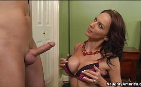 Sexy hot mom Carina Roman in hardcore youngster disgrace