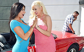 Romi Rain and Summer Brielle and Danny Mountain in My Dad Shot Girlfriend