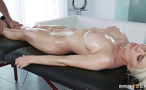 Keiran Lees oiled massage makes Alexis Fords pussy wet and soul happy